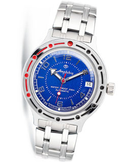 Russian automatic watch VOSTOK KOMANDIRSKIE by VOSTOK, 200m water proof, stainless steel, polished, ø40mm