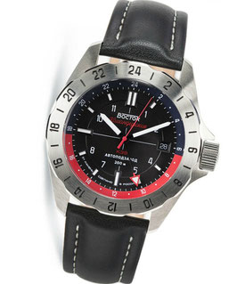 "Russian automatic watch VOSTOK ""KOMANDIRSKIE K-39"" with additional 24hr indication by VOSTOK, stainless steel, brushed, ø46mm"