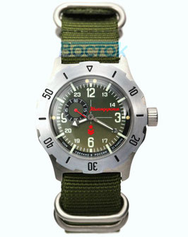 Automatic watches VOSTOK KOMANDIRSKIE K-35, stainless steel, brushed, ø42mm