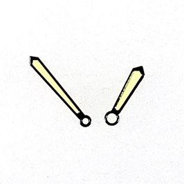 Schwarze Schwertzeiger 1 mit vintage SuperLumiNova für AMPHIBIA und KOMANDIRSKIE Uhren von Vostok