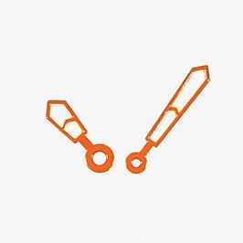 Orangene Zeiger mit SuperLumiNova für AMPHIBIA und KOMANDIRSKIE Uhren von VOSTOK