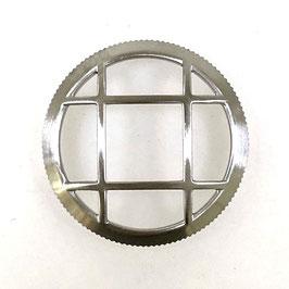 Lünette mit Schutzgitter für VOSTOK AMPHIBIA KOMANDIRSKIE Uhren von VOSTOK, Edelstahl, gebürstet, LÜ-MAS-08