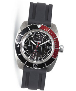 """Russian automatic watch """"AMPHIBIA"""" with SuperLumiNova by VOSTOK, 200m water proof, stainless steel, brushed, ø42mm"""