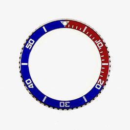 Pepsi - Lünette für VOSTOK AMPHIBIA KOMANDIRSKIE Uhren von VOSTOK, Edelstahl, poliert, blau rot, ø40,0mm, LÜ-INS-01