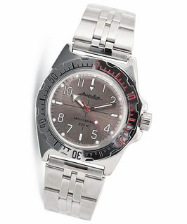 "Russian automatic pilots watch ""AMPHIBIA K-11"" by VOSTOK, 200m water proof, stainless steel, polished, ø40mm"