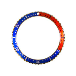 PEPSI bezel with red & blue insert with silver lettering for VOSTOK KOMANDIRSKIE watches, stainless steel, ø39mm, LÜ-INS-19
