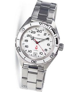 Russian automatic 24hr watch VOSTOK KOMANDIRSKIE K-65 by VOSTOK, stainless steel, brushed, ø42mm