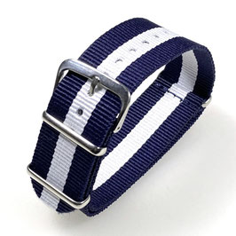 18mm NATO strap for VOSTOK watches, blue white, NATO13-18mm