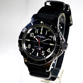 "Automatik pilots watch ""AMPHIBIA K-12"" by VOSTOK-Watches24, stainless steel, polished, ø40mm"