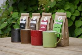 Kaffeetassen, verschiedene Farben, ca. 250 ml, Höhe 9cm