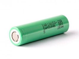Samsung INR18650 25R 2500mAh 3,6V - 3,7V ungeschützt
