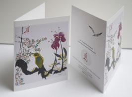 """Päckchen von 10 Klappkarten """"les oiseaux"""""""