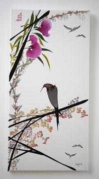 """Leinwand Serie """"Les oiseaux"""" Nr. 14"""