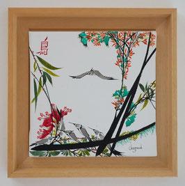 """Leinwand Serie """"Les oiseaux"""" Nr. 2"""