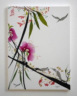 """Leinwand Serie """"Les oiseaux"""", Nr. 3"""