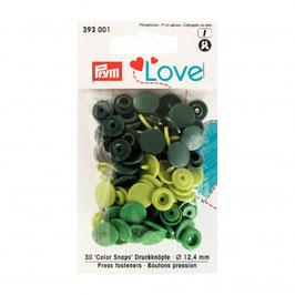 393001 prym Boutons pressions plastique vert