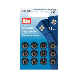 Boutons pressions 341166 PRYM noir  11mm