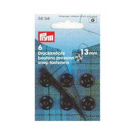 Boutons pressions 341168 PRYM noir  13mm