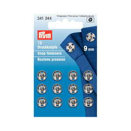 Boutons pressions 341244 PRYM laiton 9mm