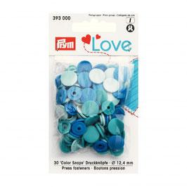 393000 prym Boutons pressions plastique bleu