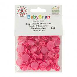 Bouton pression plastique rose  babysnap B63