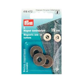 Boutons pressions 416472 PRYM aimantés 19mm bronze