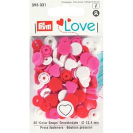 393031 prym Boutons pressions plastique multicouleurs rouge