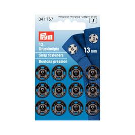 Boutons pressions 341157 PRYM noir  13mm
