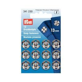 Boutons pressions 341 230 PRYM acier 13mm