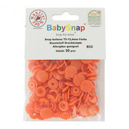 Bouton pression plastique orange babysnap B55