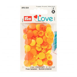 393004 prym Boutons pressions plastique orange