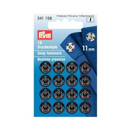 Boutons pressions 341156 PRYM noir  11mm