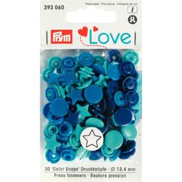 393060 prym Boutons pressions multicouleurs bleu