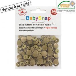 Bouton pression plastique bronze babysnap B11
