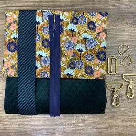 Nähpaket MachDeinDing2021 Tasche (Samt grün)