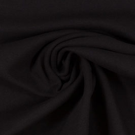Bündchenstoff Heike schwarz uni (Meterware)