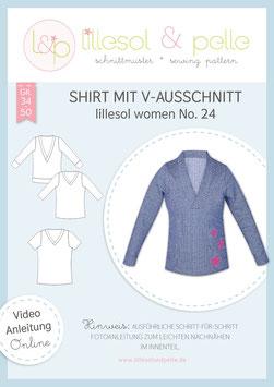 Shirt mit V-Ausschnitt lillesol women No.24
