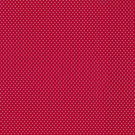 Jersey Tupfen VERENA rot (Meterware)