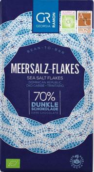 MEERSALZ-FLAKES - 70% Dunkle Schokolade - BIO von Georgia Ramon