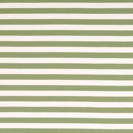 Streifen mint-weiß Frenchterry Sommersweat (Meterware)