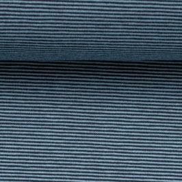 Jersey BELLA Streifen petrol-schwarz (Meterware)