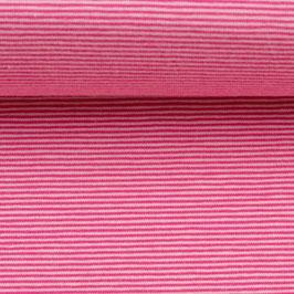 Jersey BELLA Streifen rosa-erika (Meterware)