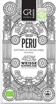 PERU Natural und KAKAO-NIBS - 45% Weiße Schokolade - BIO von Georgia Ramon