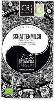 Schattenmilch - 75% Dunkle Milchschokolade - VEGAN - BIO von Georgia Ramon