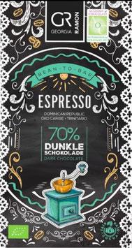 ESPRESSO - 70% Dunkle Schokolade - BIO von Georgia Ramon