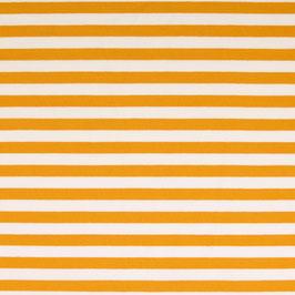 Streifen senfgelb-weiß Frenchterry Sommersweat (Meterware)