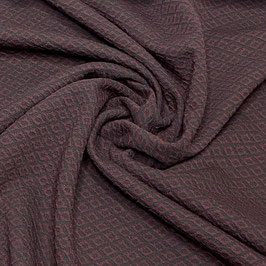 DAMASO Strick/Jacquard bordeaux (Meterware)