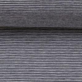 Jersey BELLA Streifen schwarz-weiß (Meterware)