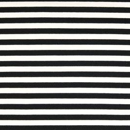 Streifen schwarz-weiß Frenchterry Sommersweat (Meterware)