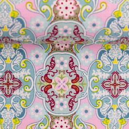 JULIA BaumwollWebware Ornamente rosa (Meterware)(100432)
